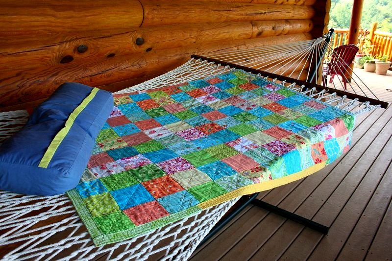 Summer quilt, ready for nap