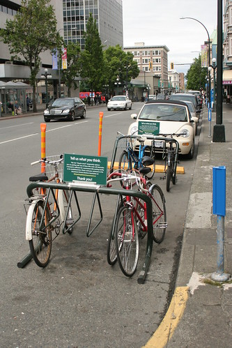 Bike corral on Fort St.