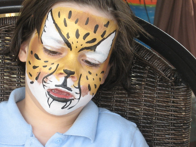 paint cheetah face