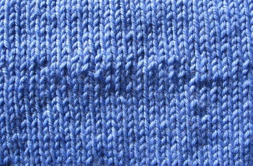 Unevenly spun patch