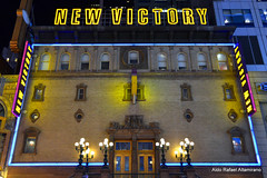 New Victory (Rafakoy) Tags: street door city nyc newyorkcity light ny newyork color colour building lamp colors sign st architecture digital lights neon colours image theatre pov manhattan perspective 42ndst ground images front pointofview sample lamps 42nd newvictory nikond7000 afsnikkor18108mmvr