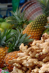 Market Day With a Difference produce, Dominica (Tropical Ties) Tags: food heritage photography cuisine ginger photo photographer image traditional stock picture culture pineapple canon350d caribbean independence canoneos canonrebelxt creole stockphoto dominica roseau stockphotography stockimage marketdaywithadifference sigma1770 canonef70300isusm natureisland roseaumarket independencecelebrations creoleweek waitukubuli dominicaimage dominicaphoto dominicaphotography dominicapicture independenceseason independencecelebrations2010 independencecelebrations2010sample