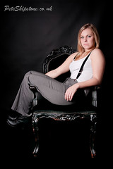 Sam (peteshipstone) Tags: nikon d300s women lady girl relaxed chair lowkey dark trouser braces boots blond