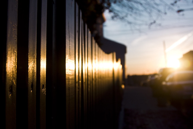 hff - a fence with a flare