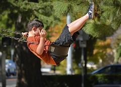 Swing High (swong95765) Tags: kid boy fun swing play playground bokeh apex