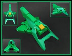 The Green Whore'net (Karf Oohlu) Tags: lego moc microscale microspacetopia spaceship scifi greenhornetandkato