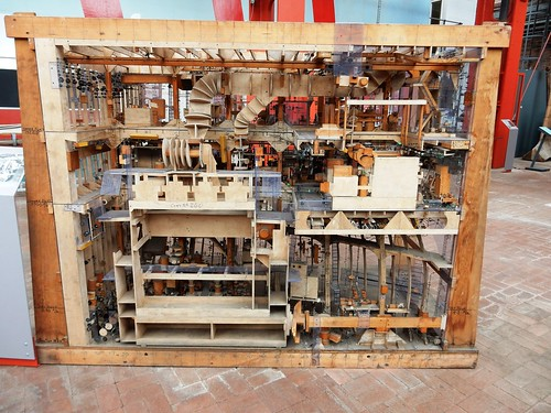 Model, engine room layout