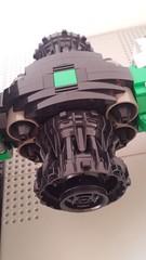 Jabba the Hutt's TIE Fighter - Quin engine (Evilkirk) Tags: starwars lego jabba hutt tie fighter moc