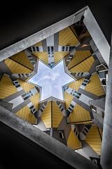 Kubuswoningen (Steven Dijkshoorn) Tags: kubuswoningen kubuswoning geel architecture architectural rotterdam 010 rotjeknor travel important