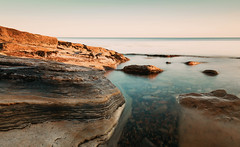On the rocks (V Photography and Art) Tags: seascape rocks goldenhour aqua sea water longexposure texture curves teal seaside seasideuk light sunset naturallight sunlight serene tranquility