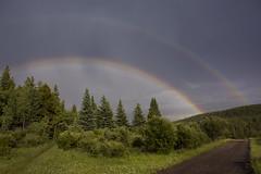 After the storm (Len Langevin) Tags: rainbow sky storm clouds alberta canada rockies rockymountains kananaskis landscape scenery weather nikon d7100 nikkor 18300