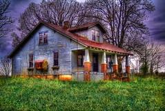 Country House ((c.jones)) Tags: house lake detail slr contrast photoshop canon nikon country cottage reflect adobe abandon hdr enhance topaz vibrance cs4 photomatix tonemap