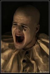 Frustration (CecilieMarie) Tags: scream mann tear klovn skrik clovn frustrasjon bildekritikk