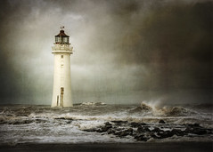 Illuminate.. (jetbluestone) Tags: sea lighthouse texture rocks waves newbrighton perchrock magicunicornverybest