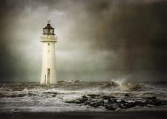 Illuminate.. (jetbluestone) Tags: sea lighthouse texture rocks waves newbrighton perchrock magicunicornverybest