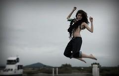 her own *jump* (steph_ie) Tags: girl jump pulo noar stephaniebastos