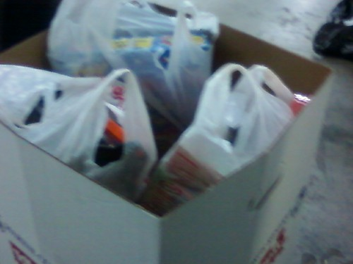 All the bags in a Toys for Tots box!