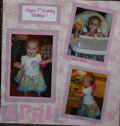 April Scrapbook Page