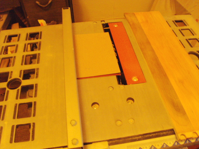 Using the pattern to set the widthof the Panel on the Table Saw