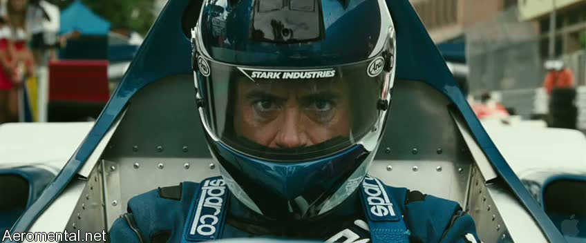 Iron Man 2 Trailer 2 Tony stark racing car