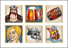 free Quest for Beer slot game symbols