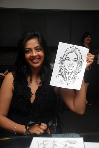Caricature live sketching for Johnson & Johnson - 11