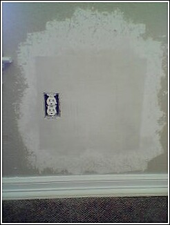 Hole in textured wall, Repair & Texture 5.