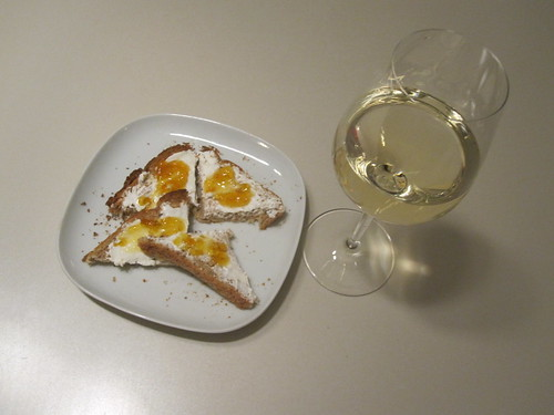 canapés and sauvignon blanc
