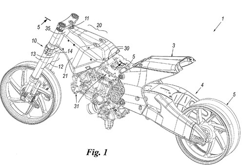 a motorcycle where the engine member replaces the bridging section of the frame according to ducati this design dramatically decreases weight and - Motorcycle Frame