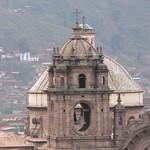 Cusco: Torre del lado del Evagelio, del Templo de  la Compañía de Jesús en el Cusco