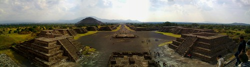 Teotihuacán Panorama from the Avenue of the Dead