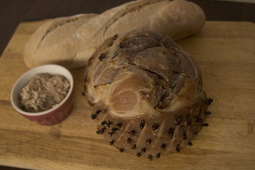 free-range ham and home made rillettes
