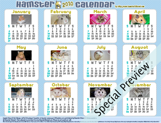 Free 12-month 2010 Calendar Preview (Blue)
