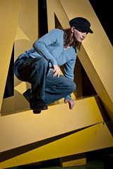 (RichardAlan) Tags: blue sculpture yellow night canon campus utah logan usu jaimy cachevalley utahstateuniversity 450d rebelxsi