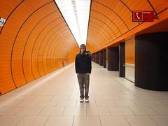 (todd richter) Tags: germany munich infinite orangeorangeorange lonefigure bigscarf coolesttubestations