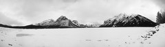 The Silent Witnesses of Time (Denis Plechkov) Tags: park white lake snow canada black mountains cold water rockies fuji gloomy rocky sigma canadian banff 1020mm 2010 provincial minnewanka s5pro