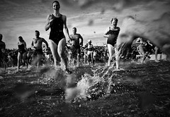 Making A Splash (Mark ~ JerseyStyle Photography) Tags: bw cold water blackwhite newjersey asburypark splash atlanticocean newyearsday 2010 polarbearplunge january1 explored asburyparknewjersey canon50d january2010 newjerseyphotographers jerseystylephotography wwwjerseystylephotographywordpresscom sacrificingforart markvkrajnak2010allrightsreserved