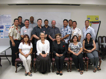 Federal, state and local officials at the Guam Jobs Forum