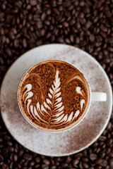 Cappuccino (Coffee Trails) Tags: art coffee central sydney trails espresso latte cappuccino rosetta