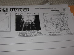 (Pirates of) Dark Water storyboards: Episode 1 - The Quest - Bloth's introduction (andorus) Tags: art concept conceptual darkwater storyboard maelstrom storyboards thequest hannabarbera bloth piratesofdarkwater constrictus blord
