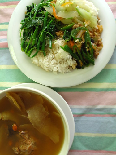 IMG_3805 Lunch , Mixed Veggie Rice .午餐 - 杂菜饭