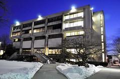 Beatty Hall Aglow (UrbanMechanic) Tags: boston architecture wit brutalist wentworthinstituteoftechnology beattyhall