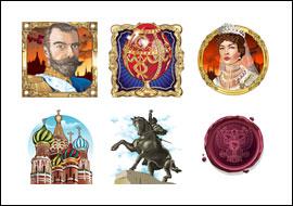 free Days of the Tsar slot game symbols