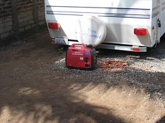 Honda generator at work