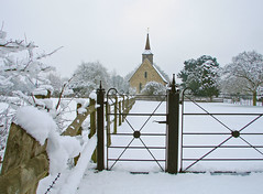 St. Germanus Church (Christopher A Strickland Photography) Tags: christmas winter england holiday snow storm cold ice church nature beauty weather architecture season frozen village unitedkingdom britain snowy seasonal freezing medieval historic icestorm postcards churchyard wintertime naturalbeauty coldweather essex eastanglia christmascard snowedin englishweather sonycybershoth1 britishwinter myessex carlzeisslens photographybychristopherstrickland
