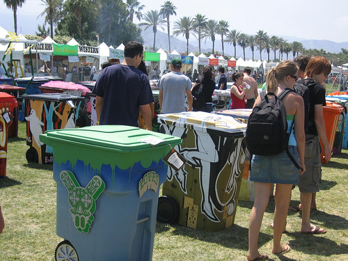 Re:Trashed recycling bins by Global Inheritance at Coachella