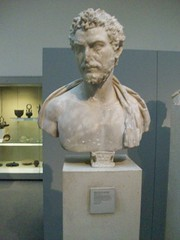 The British Museum: Roman: Bust of a bearded man dressed as a Greek Orator (130-150 AD) (stuartpaterson) Tags: greatbritain england italy rome london art statue wales architecture bronze greek design scotland ancient king gallery angle roman space helmet egypt royal athens queen parthenon greece bust egyptian future present livia british augusta marbles elgin past brit londra bearded deity emperor augustus saxon beardedman ionic elginmarbles pharoh germanic artefacts orator anglosaxon parthenonmarbles jute museumbritishmuseum strangfordcollection bustofanorator greehorator ancientgreekorator