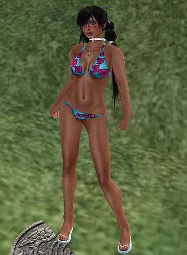 hunt prizes Heat Wave #01 Alexohol fashions hawaiian bikini flip flops