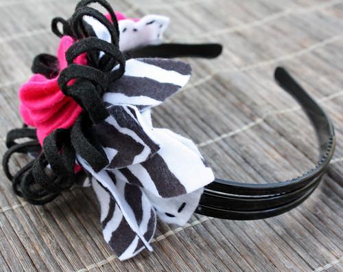 Zebra Pink Headband