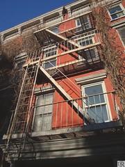 Greenwich Village (Vaughn Oliver) Tags: light newyork west escape greenwich ivy fireescape westside lower greenwichvillage vaughnoliver lowerwest djtrmediaproductioncompany